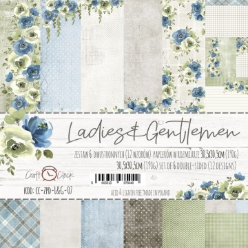 "Set 6 papiers ""Ladies & Gentlemen"" de Craft O Clock"