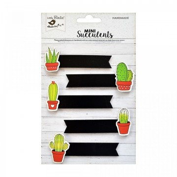 "Embellissements 3D ""Cactus Tags"" de Little Birdie"