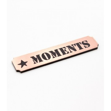 "Etiquette""moments"" en Acrylique Rose Gold 4,8 x 1 cm - Scrapmouset"