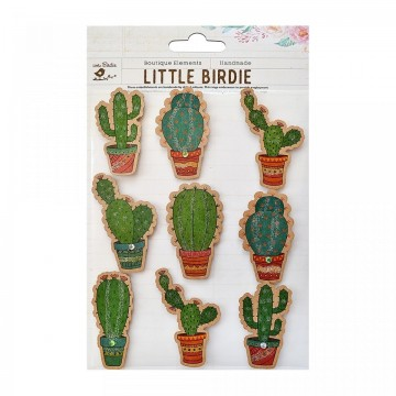 "Embellissements 3D ""Cactus kraft"" de Little Birdie"