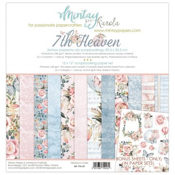 "Collection 12 papiers 30 x 30 collection ""7 Th Heaven"" de Mintay"