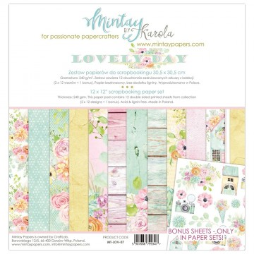 "Collection 12 papiers 30 x 30 ""Lovely Day"" de Mintay"