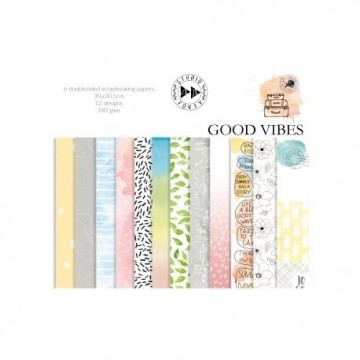 "Set de 6 papiers scrapbooking collection ""Good Vibes"" de Studio Forty"