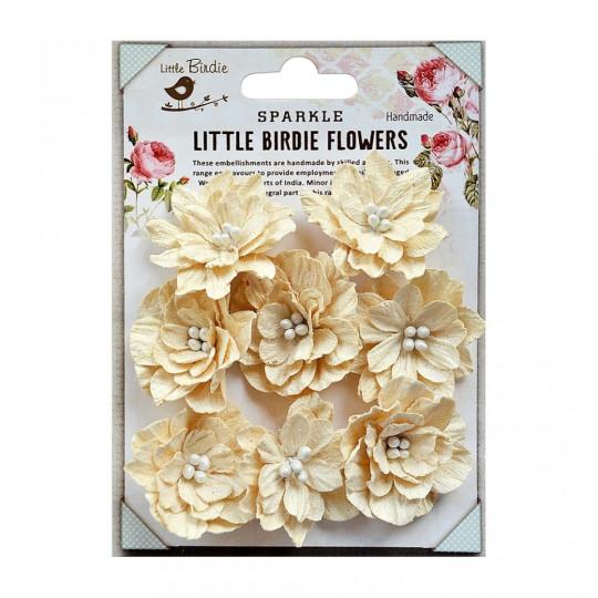 """Fleurs """"Seranade ivory"""" de Little Birdie"""