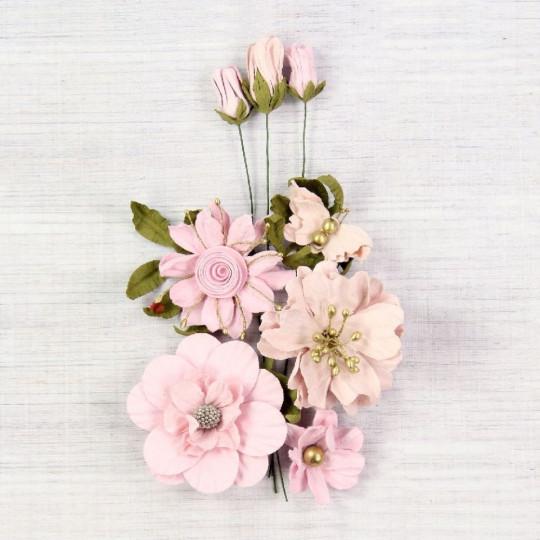 "Fleurs ""Danica blush"" de Little Birdie"