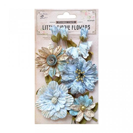 """Fleurs """"Danica blue"""" de Little Birdie"""