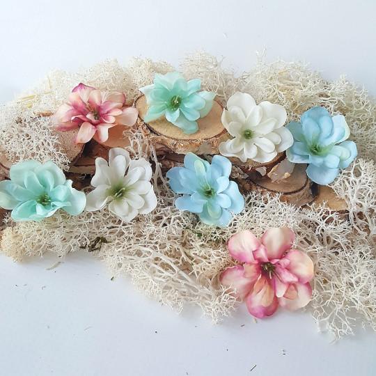 "Fleurs tissu ""Eglantines"" pastel"