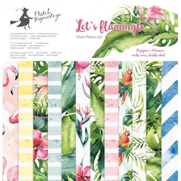"Bloc 30,5 cm x 30,5 cm collection ""Let's flamingle"" de Piatek"