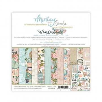 "Collection 12 papiers scrapbooking 30 x 30 collection ""Wanderlust"" de Mintay"