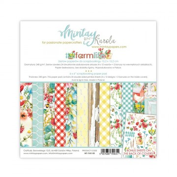 "Bloc 15 x 15 papiers scrapbooking collection ""Farmlife"" de Mintay"