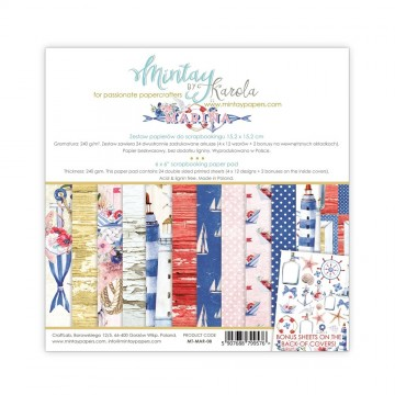 "Bloc 15 x 15 papiers scrapbooking collection ""Marina"" de Mintay"