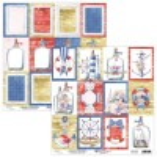 "Bloc 15 x 15 papiers scrapbooking collection ""Marina"" de Mintay"