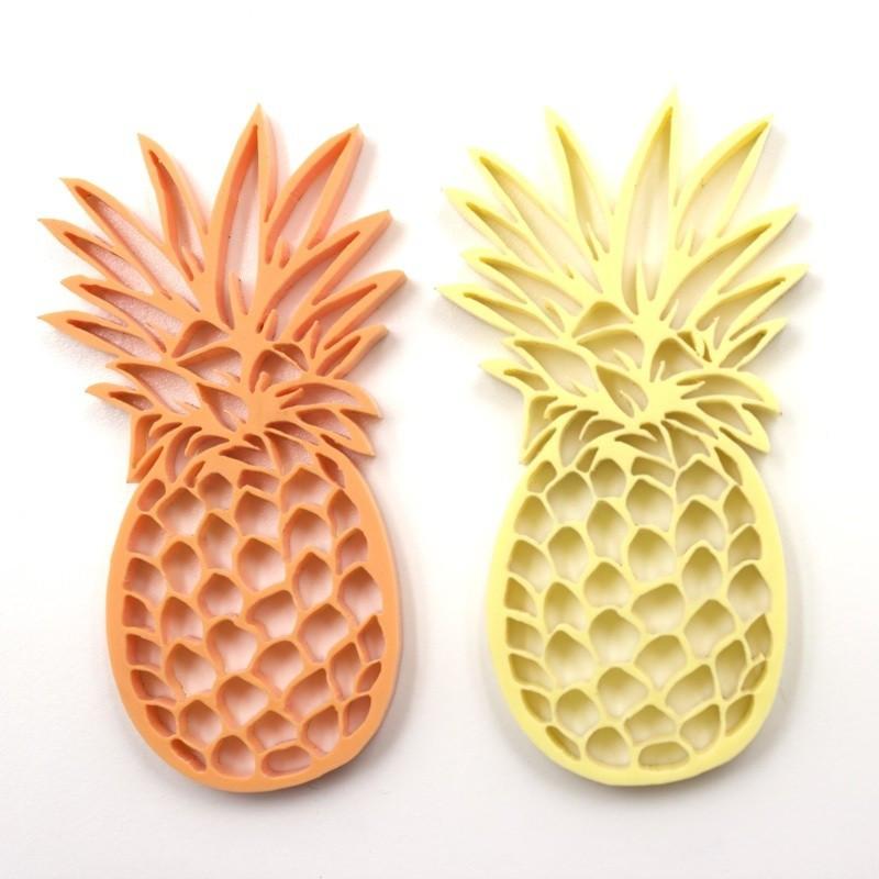 """Lot 2 """"Ananas"""" en acrylique pastel - Scrapmouset"""