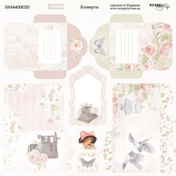 "Papier enveloppes 20 x 20 collection ""Beautiful Moments"" de Scrapmir"