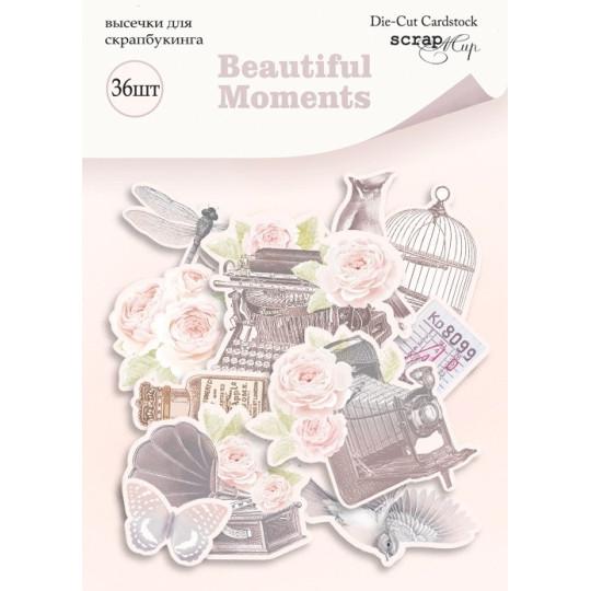 """Die-cuts cardstock collection """"Beautiful Moments"""" de Scrapmir"""