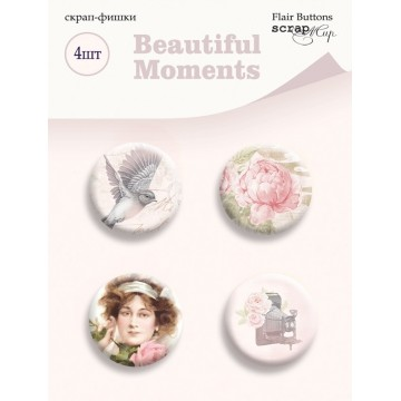 "Lot 4 badges collection ""Beautiful Moments"" de Scrapmir"