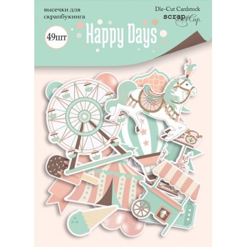 "Die-cuts cardstock collection ""Happy Days"" de Scrapmir"