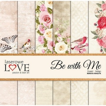 "Set 6 papiers 30 x 30 collection ""Be with me "" de Laserowe LOVE"