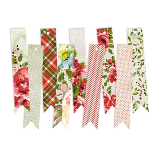 Tags décoratifs fanions Rosy Christmas PIATEK