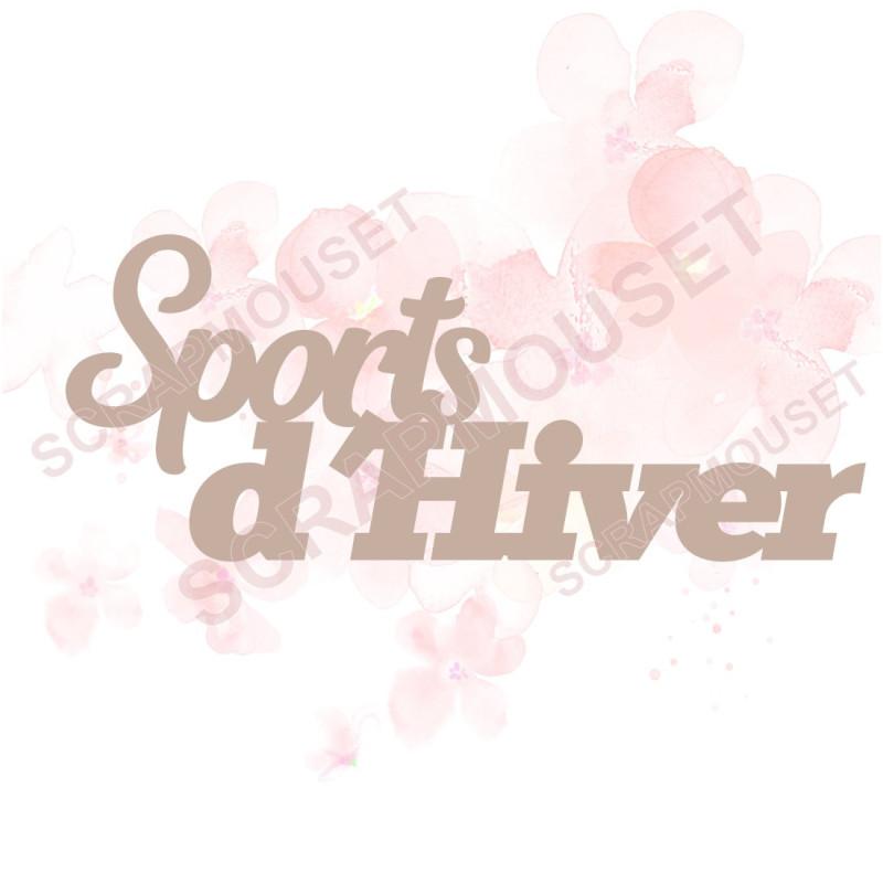 Mot Sports d'hiver en carton bois SCRAPMOUSET