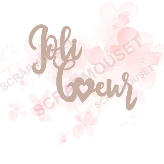 Mot Joli coeur en Carton bois scrapmouset pour scrapbooking