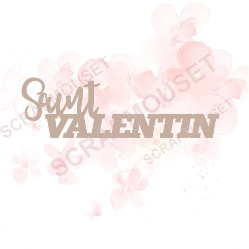 Mot Saint Valentin en carton bois scrapmouset