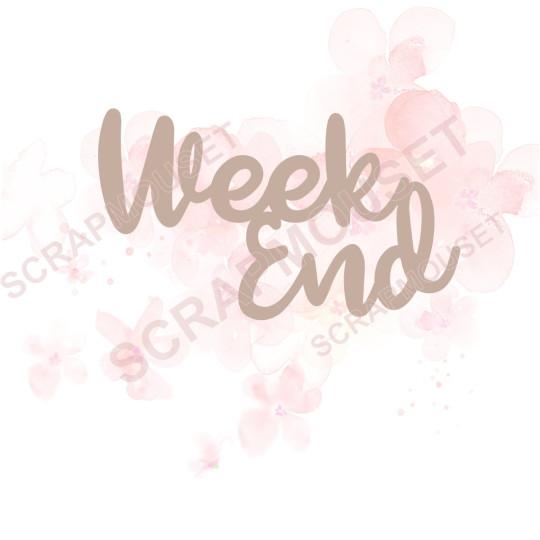 Mot Week end en carton bois SCRAPMOUSET