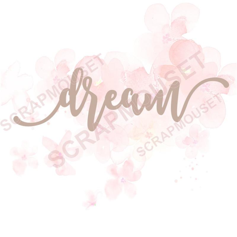 Mot Dream Mot en Carton bois scrapmouset