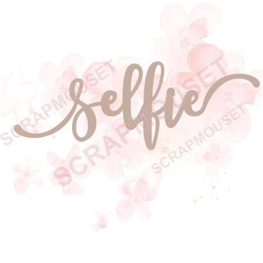Mot selfie en carton bois scrapmouset