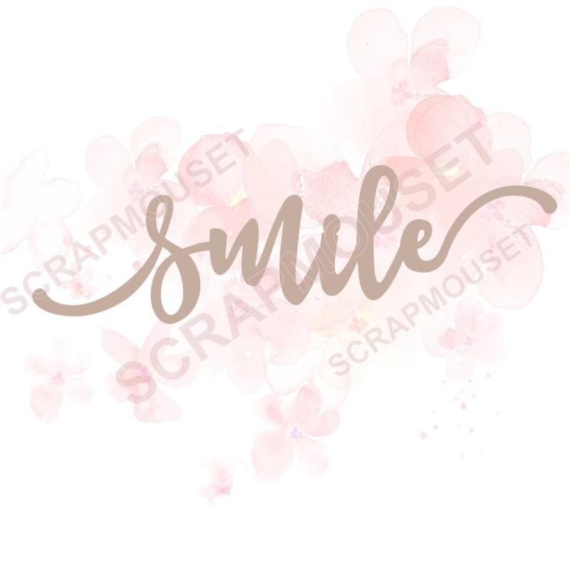 Mot Smile en carton bois SCRAPMOUSET