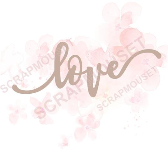Mot love en carton bois SCRAPMOUSET