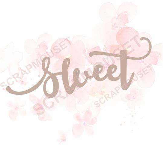 Mot sweet en carton bois scrapmouset