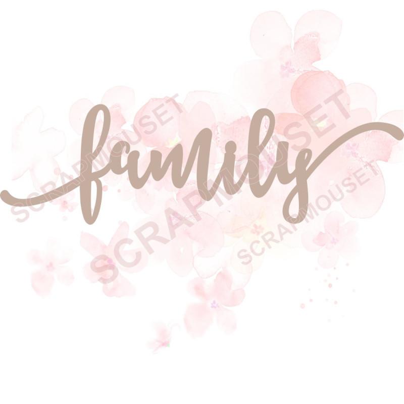 Mot Family en carton bois scrapmouset