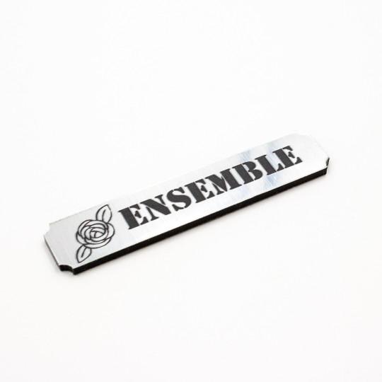 Etiquette ensemble en acrylique argent brossé Scrapmouset