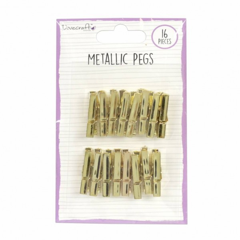 Pinces métalliques or DOVECRAFT