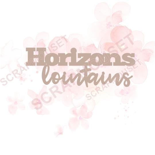 Mots en Carton bois - Horizons lointains - 9.7 x 4.6 cm
