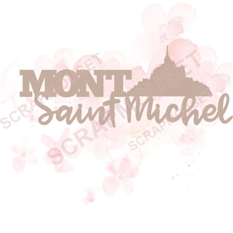 Mots en Carton bois - Mont Saint Michel - 9.9 x 3.8 cm