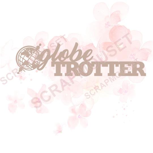 Mot en Carton bois - Globe trotter (petit globe) - 10.6 x 2.8 cm