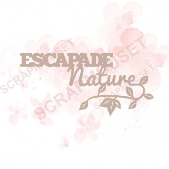 Mots en Carton bois - Escapade nature - 9.7 x 4.6 cm