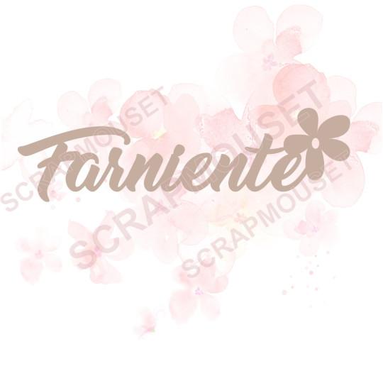 Mot en Carton bois - Farniente - 9.7 x 2.6 cm