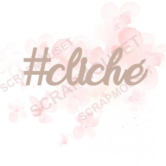 Mots en Carton bois - #cliché - 5 x 1.6 cm