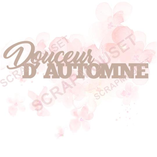 Mot en Carton bois - Douceur d'Automne - 11.4 x 3 cm