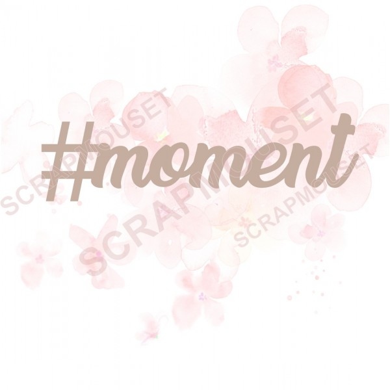 Mot en Carton bois - #moment - 6.1 x 1.7 cm