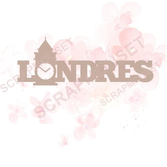 Mot en Carton bois - Londres - 7,8 x 2,8 cm