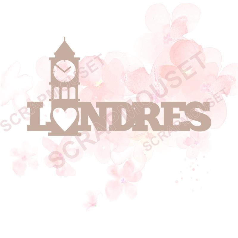 Mot en Carton bois - Londres (I'm Lovin it) - 7,8 x 4,2 cm