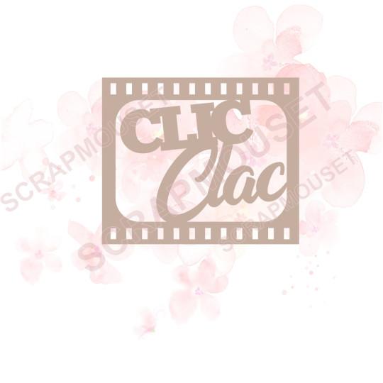 Mot Clic Clac en Carton bois -   5,4 x 4,6 cm