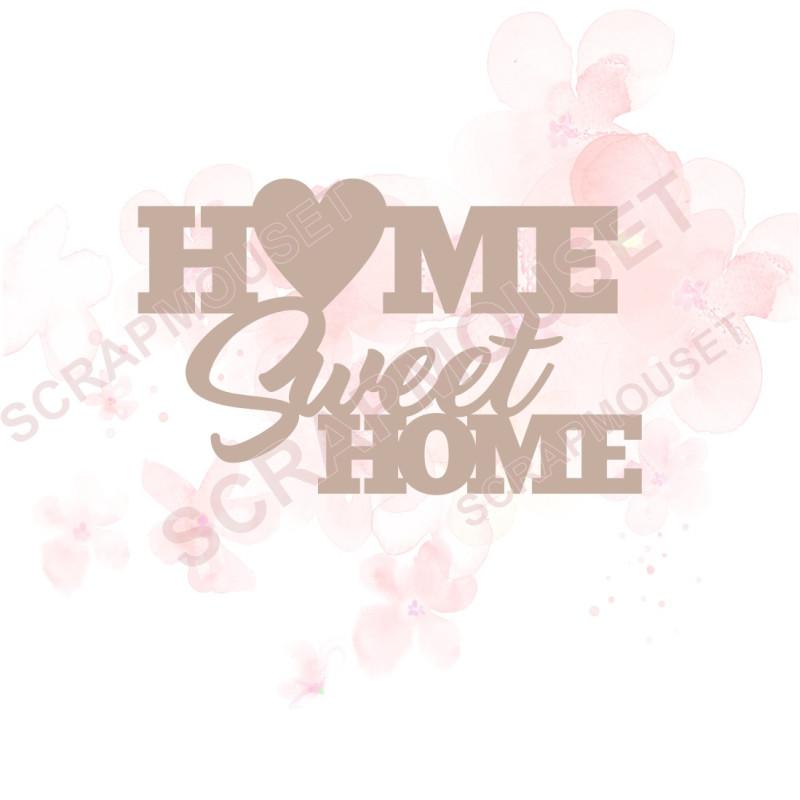 Mot Home sweet home en Carton bois -  7,5 x 4,7  cm