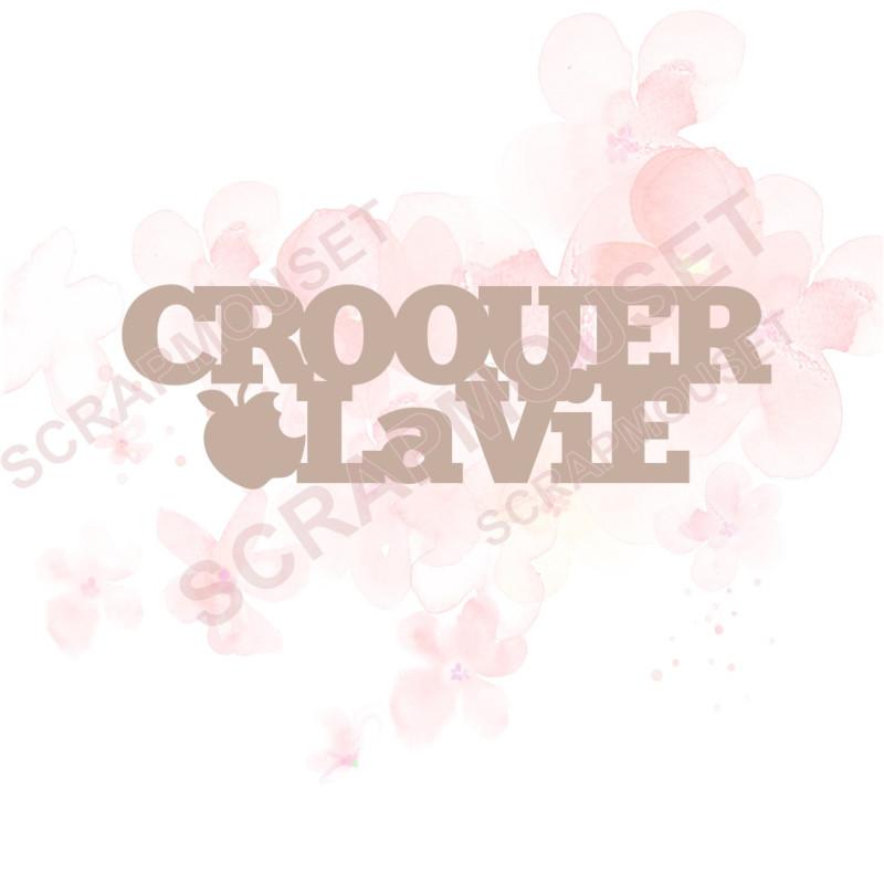 Mot Croquer la vie en Carton bois - 8,6 x 2,7  cm