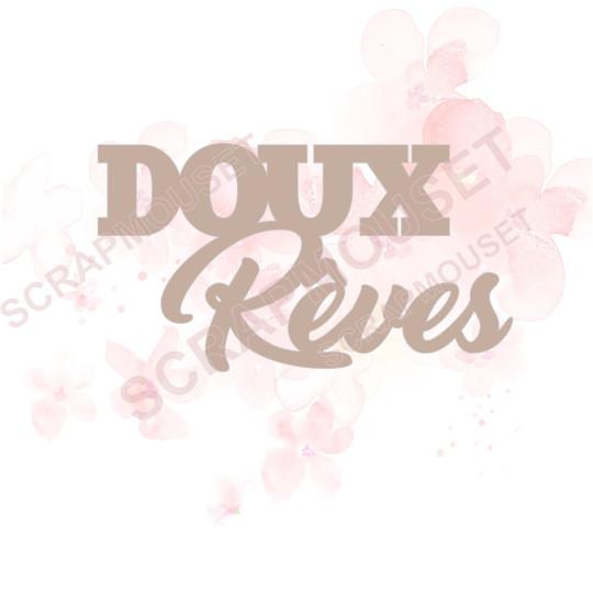Mot Doux rêves en Carton bois - 6,2  x 3,4  cm