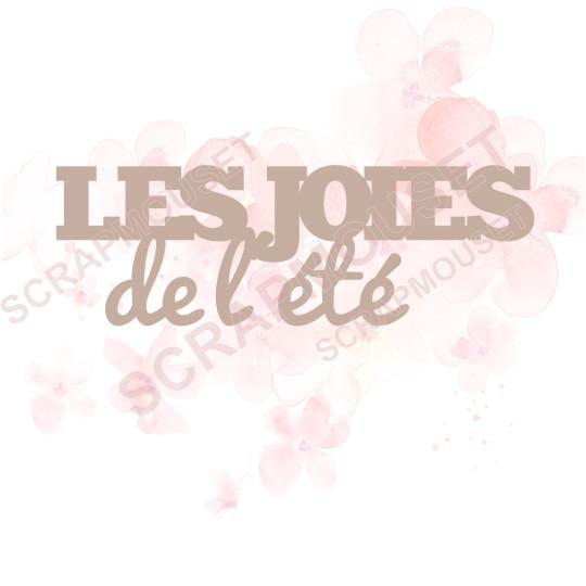 Mot Les joies de l'été en carton bois SCRAPMOUSET 7,7 x 2,6 cm